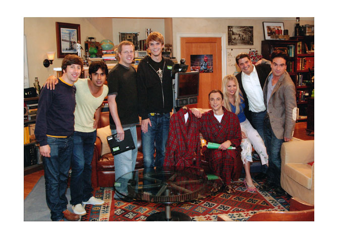 Texai and the Cast of the Big Bang Theory