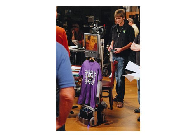 Tom managing the Texai with Sheldon inside